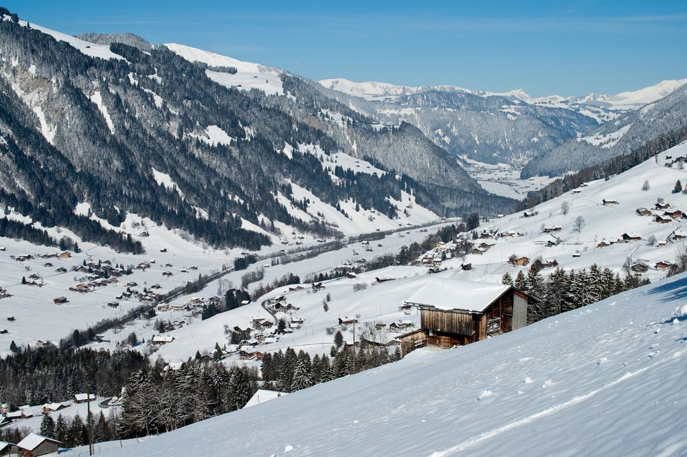 Winter view of Lenk, Canton of Bern